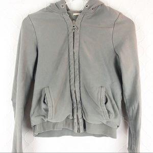 J Crew Zip Up Hoodie Jacket Sweatshirt Grey Medium